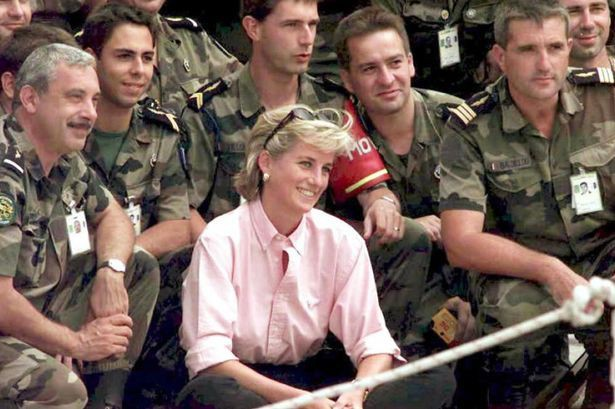 Princess Diana with NATO troops