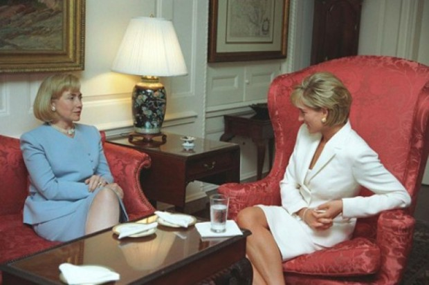 Diana in conversation with Hillary Clinton
