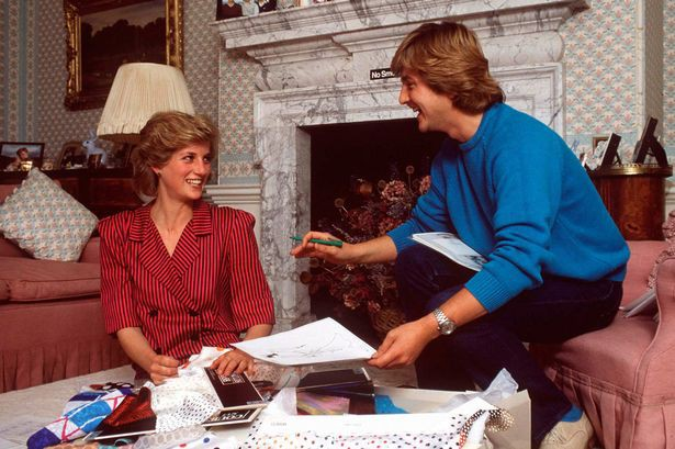David Emanuel with Princess Diana