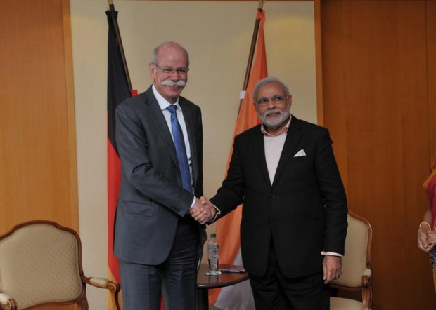 Dieter Zetsche with Indian Prime Minister Narendra Modi