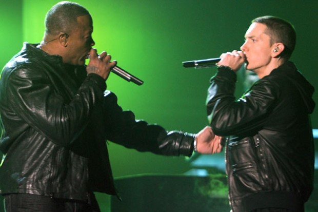 Dr. Dre and Eminem performs together
