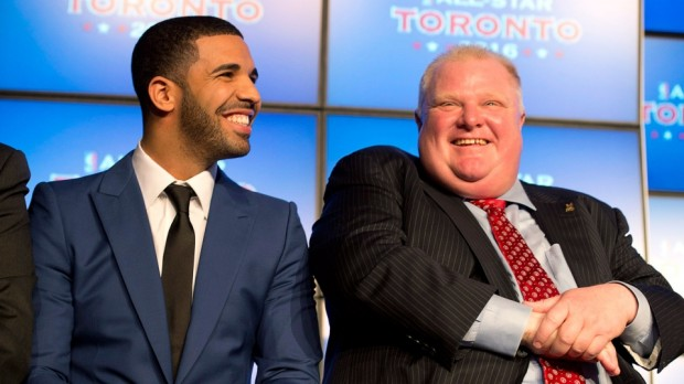Drake and Toronto mayor Rob Ford