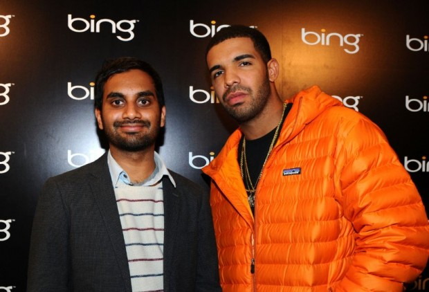 Drake and Aziz Ansari