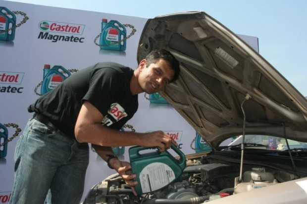 Dravid during Castrol Promotion