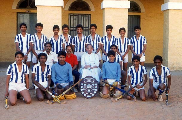 Rahul with His Hockey Team