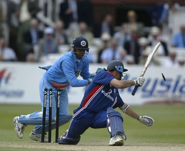 Dravid Stumping in Natwest Series in England