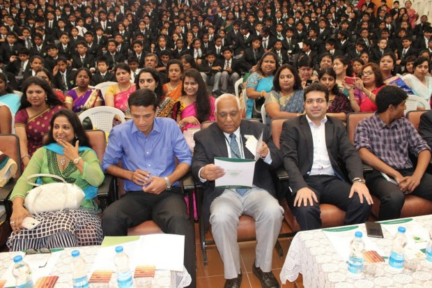 Dravid during Teachers day celebrations at a school in Banglore