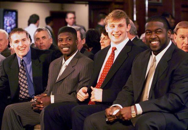 Young Drew Brees at Heisman Trophy presentation in NYC 1999