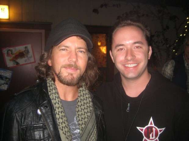 Drew Houston with Eddie Vedder