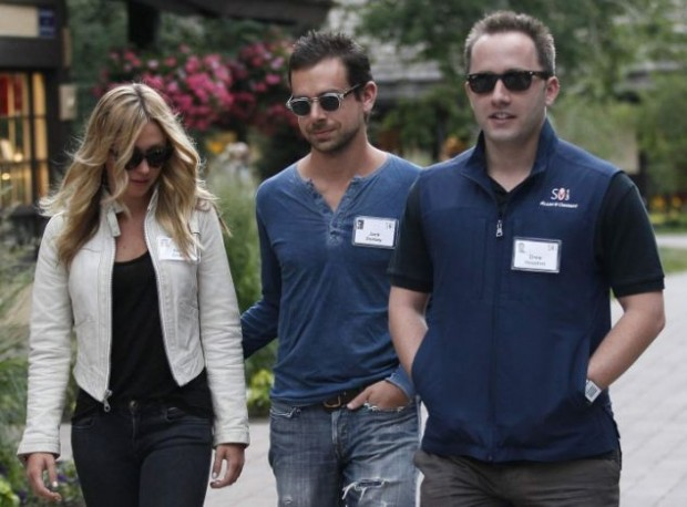 Drew Houston with Jack Dorsey and Kate Greer