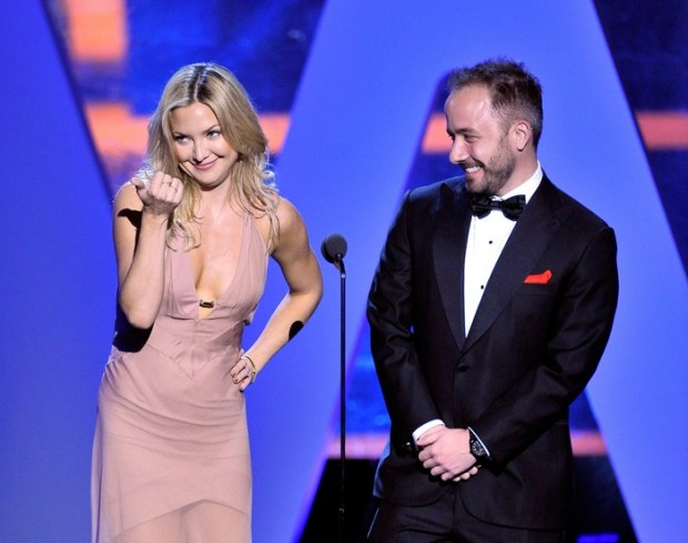 Drew Houston with Kate Hudson at Breakthrogh Prize Awards