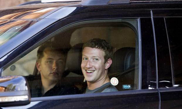 Drew Houston with Mark Zuckerberg