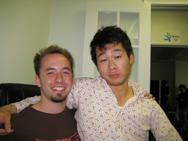 Drew Houston with Justin Kan of Justin.tv