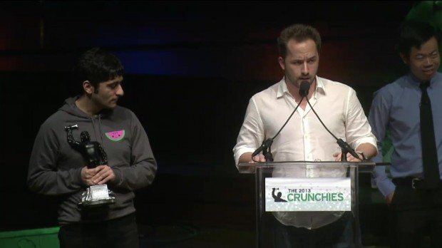 Drew houston Speaking at Crunchies Awards