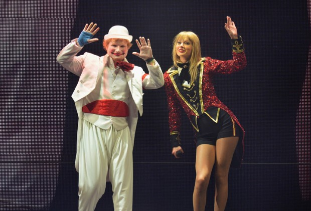 Ed and Taylor on stage