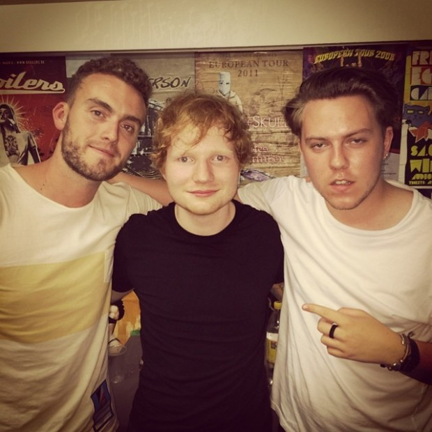 Ryan keen and Saint Raymond with Ed Sheeran