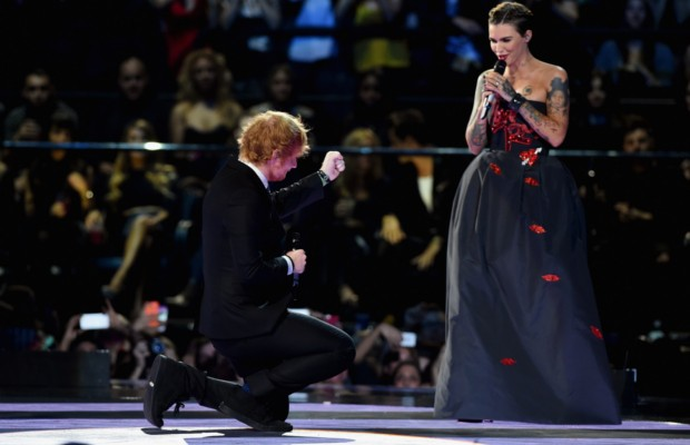 Ed and Ruby Rose at MTV Europe Music Awards