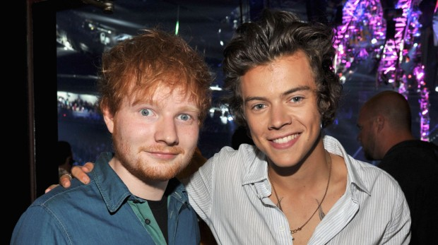 Ed Shareen and Harry Styles