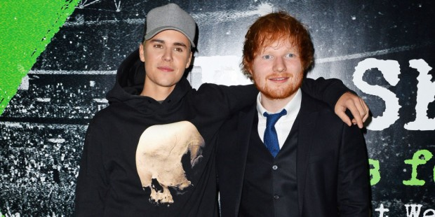 Justin Bieber and Ed Shareen