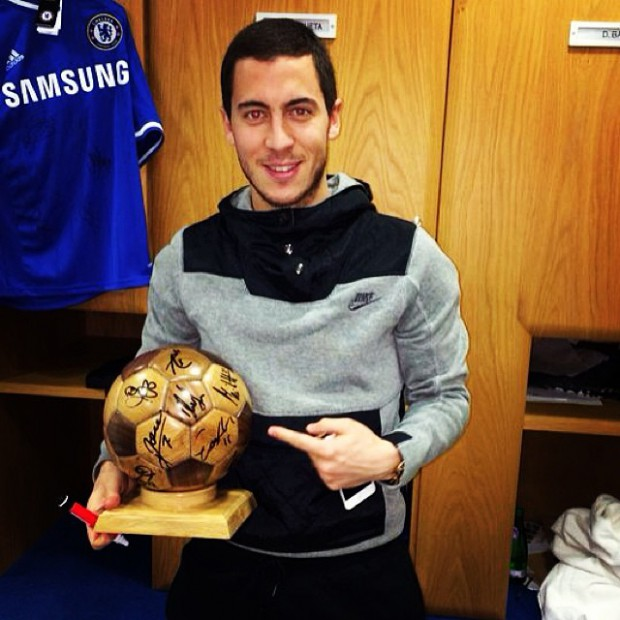 Eden Hazard with Ballon Award