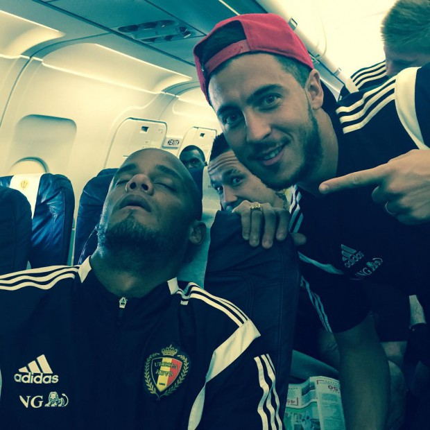 Eden Hazard's selfie with Vincent Kompany