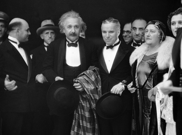 Charlie Chaplin with Einstein