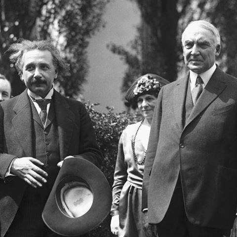 Albert Einstein with President Warren G. Harding