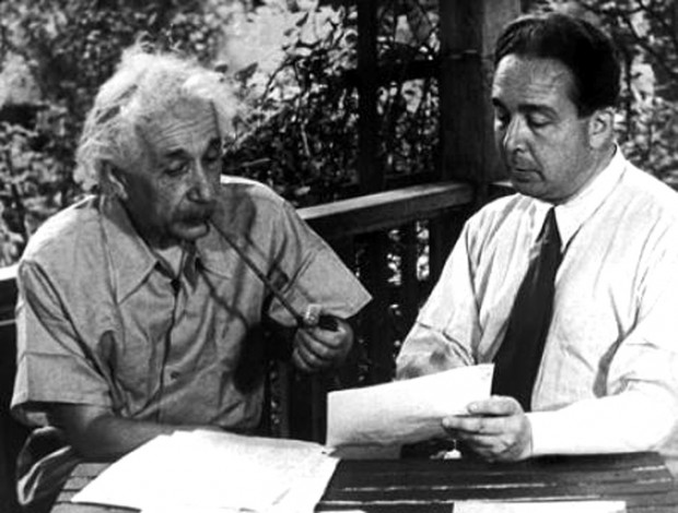 Albert Einstein and Leo Szilard