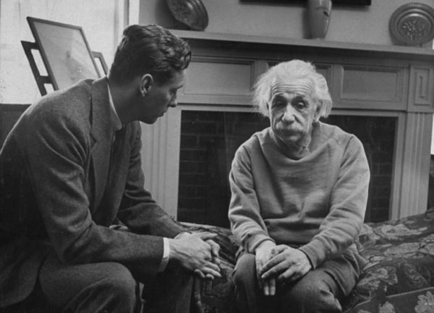 Albert Einstein with his therapist