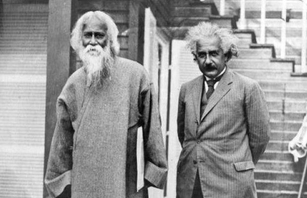 Albert Einstein with Dr Rabindranath Tagore