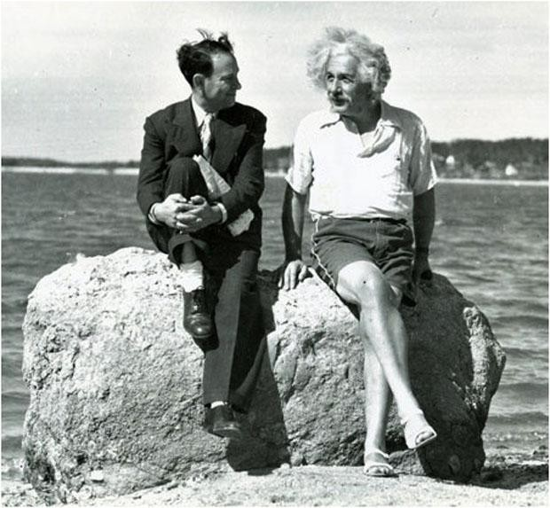 Einstein with his friend David Rothman