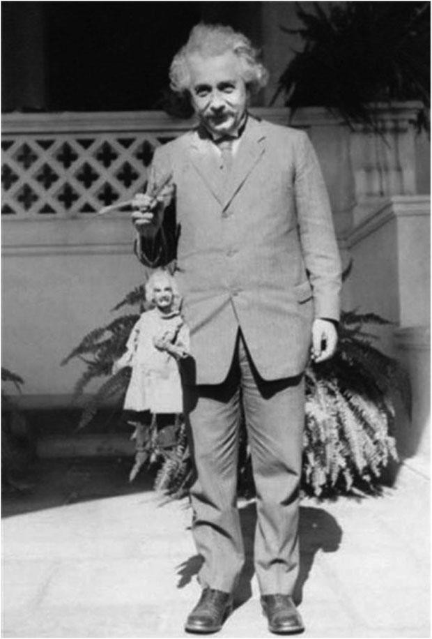 Einstein with his puppet