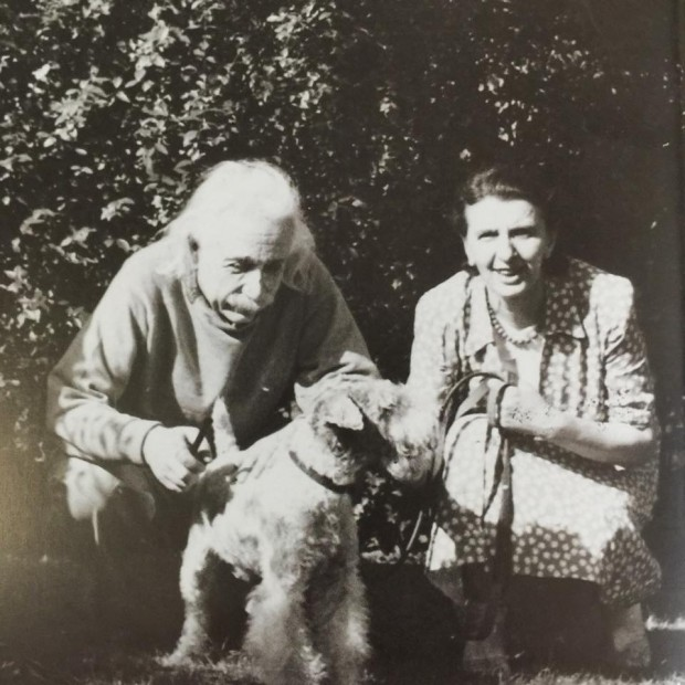 Einstein with his dog Chico