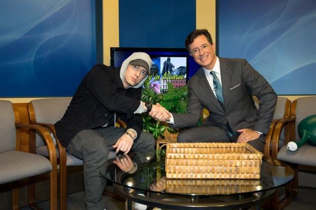 Eminem in Stephen Colbert Show
