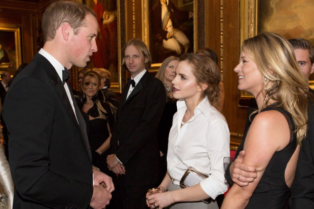 Emma Watson talking to Prince William