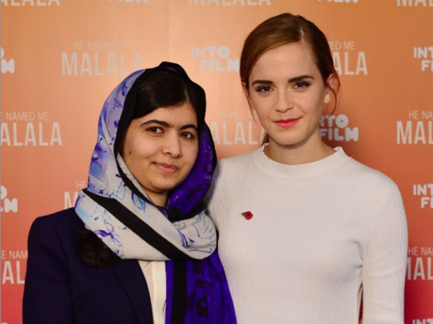 Emma Watson with Nobel Prize winner Malala