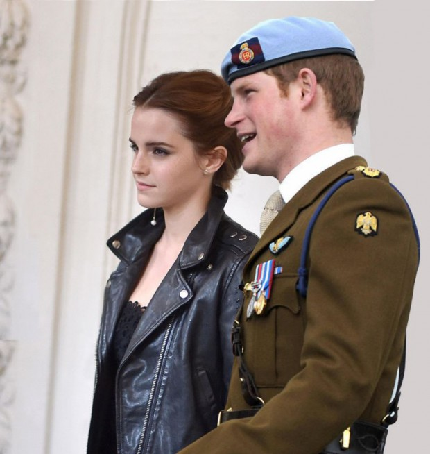 Prince Harry with Emma Watson