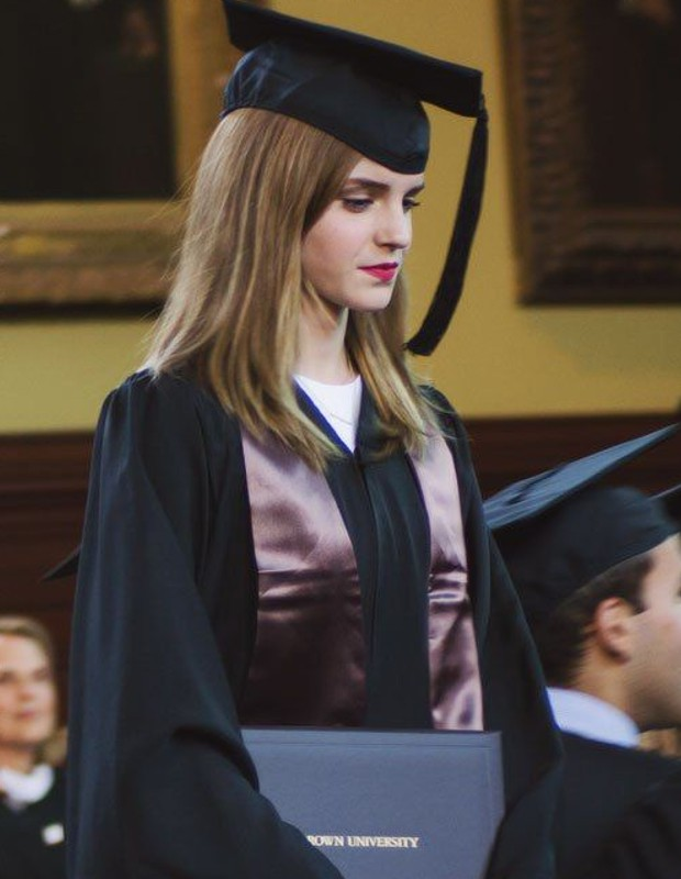 Emma Watson graduated from Brown University in Providence