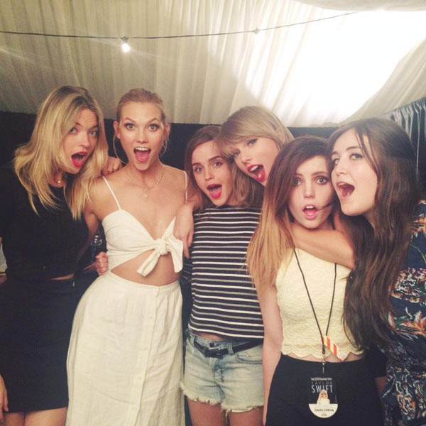Emma Stone with Taylor Swift and friends