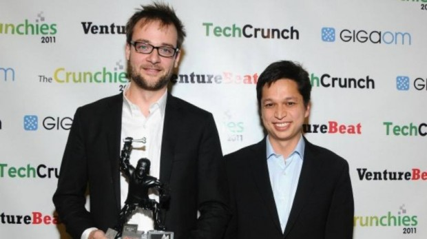 Evan Sharp with Crunchies Award