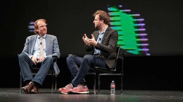 Evan Sharp at Bloomberg's annual design conference in San Francisco