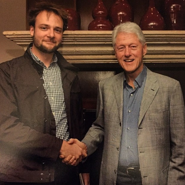 Evan Sharp with Bill Clinton