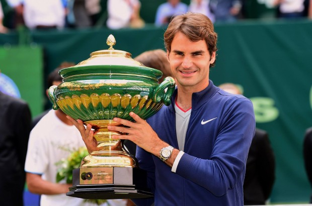 Federer with his seventh Gerry Weber Open title