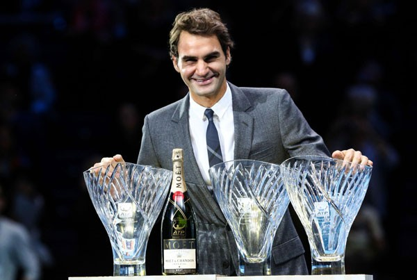 Federer with ATP Awards