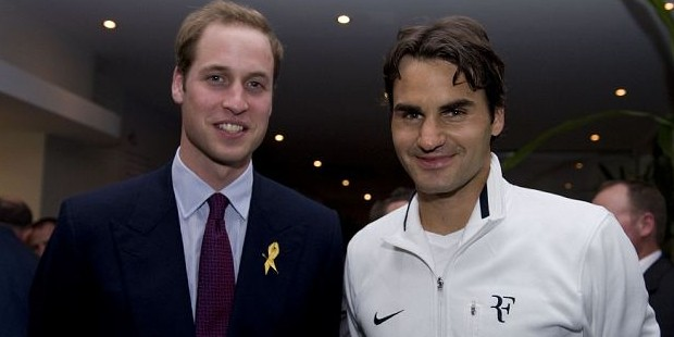 Prince William with Roger Federer