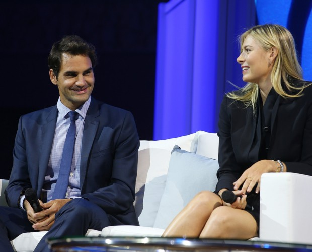 Maria Sharapova with Roger Federer