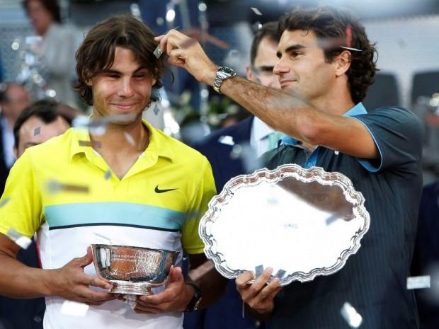 Roger Federer with Rafael Nadal