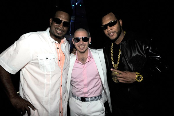Flo rida with Luther Campbell and Pitbull