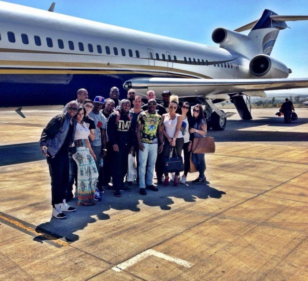 Floyd Mayweather in Capetown, South Africa