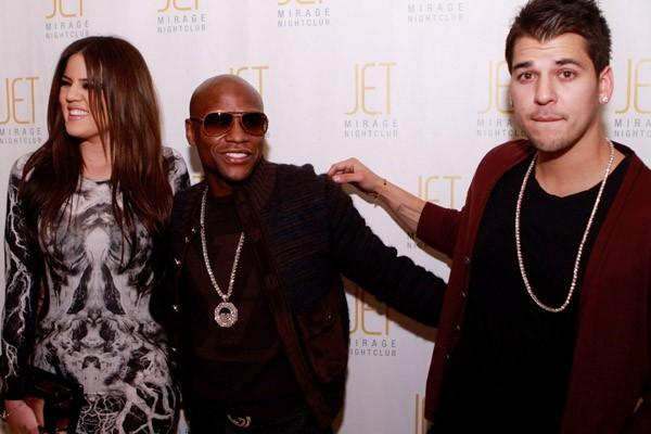 Floyd with Kardashians